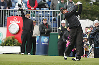 Nick Dougherty Teeing off on the 1st tee box on day 3 of the 3 Irish open in Co Louth Golf Club Baltray..Pic Fran Caffrey/golffile.ie
