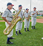 19 March 2015: The Walt Disney World Philharmonic Saxophone Quartet entertain the fans prior to a Spring Training game between the Miami Marlins and the Atlanta Braves at Champion Stadium in the ESPN Wide World of Sports Complex in Kissimmee, Florida. The Braves defeated the Marlins 6-3 in Grapefruit League play. Mandatory Credit: Ed Wolfstein Photo *** RAW (NEF) Image File Available ***