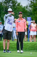 Lydia Ko (NZL) prepares to tee off on 2 during Friday's round 2 of the 2017 KPMG Women's PGA Championship, at Olympia Fields Country Club, Olympia Fields, Illinois. 6/30/2017.<br /> Picture: Golffile | Ken Murray<br /> <br /> <br /> All photo usage must carry mandatory copyright credit (&copy; Golffile | Ken Murray)