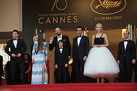 Barry Keoghan, Raffey Cassidy, Yorgos Lanthimos, Sunny Suijic, Colin Farrell, Nicole Kidman &amp; Ed Guiney at the premiere for &quot;The Killing of a Sacred Deer&quot; at the 70th Festival de Cannes, Cannes, France. 22 May 2017<br /> Picture: Paul Smith/Featureflash/SilverHub 0208 004 5359 sales@silverhubmedia.com