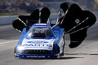 Sept. 6, 2010; Clermont, IN, USA; NHRA funny car driver Bob Tasca III during the U.S. Nationals at O'Reilly Raceway Park at Indianapolis. Mandatory Credit: Mark J. Rebilas-