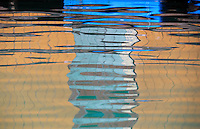 Abstract Water and reflection Ha Long Bay, North Vietnam