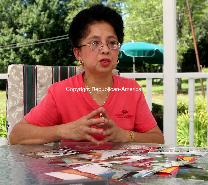 MIDDLEBURY, CT-09August 2006-080906TK10-  Mirasol Josef has taken a month off to assists in her husbands, Juanito Josef, rehabilitation shares her experiences on the day of the accident. Tom Kabelka Republican-American (Mirasol Josef)