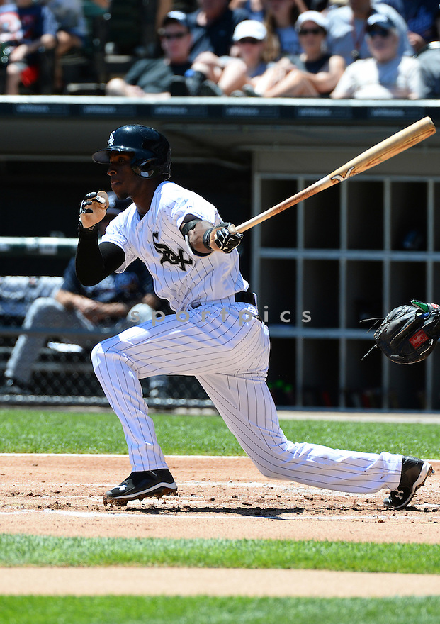 Chicago White Sox Tim Anderson (12) during a game against the Atlanta Braves on July 9, 2016 at US Cellular Field in Chicago, IL. The White Sox beat the Braves 5-4.