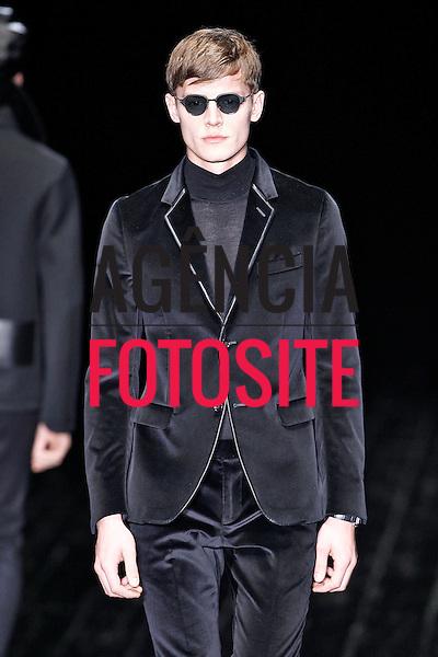 Milao, Italia &ndash; 01/2014 - Desfile de Gucci durante a Semana de moda masculina de Milao - Inverno 2014. <br /> Foto: FOTOSITE