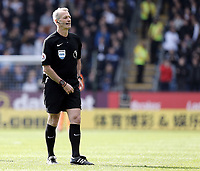 Referee Martin Atkinson<br /> <br /> Photographer Rich Linley/CameraSport<br /> <br /> The Premier League - Burnley v Leicester City - Saturday 14th April 2018 - Turf Moor - Burnley<br /> <br /> World Copyright &copy; 2018 CameraSport. All rights reserved. 43 Linden Ave. Countesthorpe. Leicester. England. LE8 5PG - Tel: +44 (0) 116 277 4147 - admin@camerasport.com - www.camerasport.com