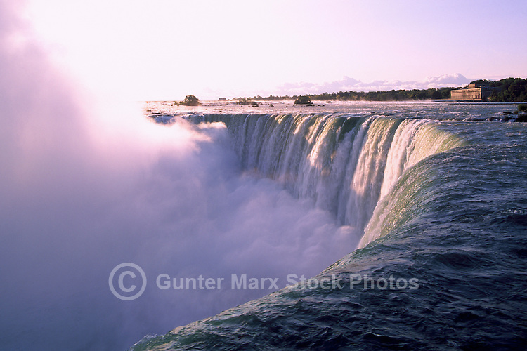Niagara Falls (Canadian 'Horseshoe Falls') and the Niagara River, in the City of Niagara Falls, Ontario, Canada (Natural Wonder of the World)