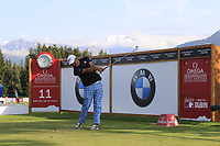 Danny Chia (MAS) tees off the 11th tee during Thursday's Round 1 of the 2017 Omega European Masters held at Golf Club Crans-Sur-Sierre, Crans Montana, Switzerland. 7th September 2017.<br /> Picture: Eoin Clarke | Golffile<br /> <br /> <br /> All photos usage must carry mandatory copyright credit (&copy; Golffile | Eoin Clarke)
