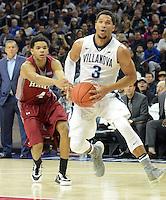 Villanova's Josh Hart (3) drives the net as IUP's (4) defends in the first half Saturday, November 5, 2016 at the Wells Fargo Center in Philadelphia, Pennsylvania. (WILLIAM THOMAS CAIN / For The Philadelphia Inquirer)