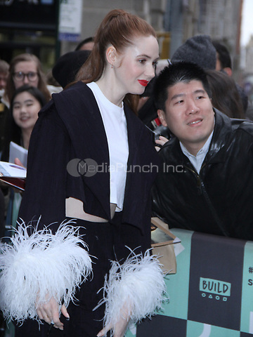 December 14, 2018.  Karen Gillian at Build Series  to talk about her new movie The Party's Just Beginning in New York. December 14, 2018  Credit:RW/MediaPunch
