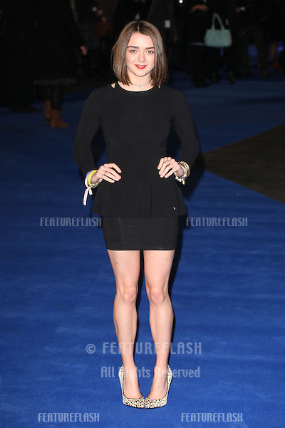 Maisie Williams arriving for the Night At The Museum: Secret Of The Tomb UK premiere, at the Empire leicester Square, London. 15/12/2014 Picture by: Alexandra Glen / Featureflash