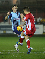 Scott Brown of Accrington Stanley <br /> during the Sky Bet League 2 match between Accrington Stanley and Wycombe Wanderers at the wham stadium, Accrington, England on 28 February 2017. Photo by Tony  KIPAX.