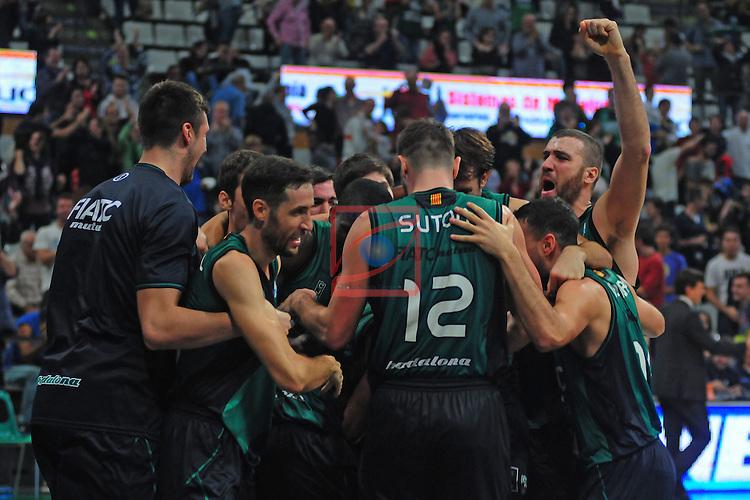 League ACB-ENDESA 2014/2016 - Game: 05.<br /> FIATC Joventut vs CAI Zaragoza: 71-70.