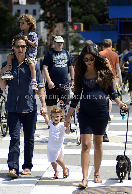 WWW.ACEPIXS.COM . . . . .  ....August 26 2012, New York City....Actor Matthew McConaughey and his pregnant wife Camila Alves enjoy an afternoon by the Hudson River with their children Levi and Vida on August 26 2012 in New York City......Please byline: CURTIS MEANS - ACE PICTURES.... *** ***..Ace Pictures, Inc:  ..Philip Vaughan (212) 243-8787 or (646) 769 0430..e-mail: info@acepixs.com..web: http://www.acepixs.com