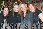 ENJOYMENT: Tralee ladies Jackie ONeill, Kathy White, Sinead Howe and Helen Regan enjoying a girls night out in Killarney to celebrate Womens Christmas last Saturday..