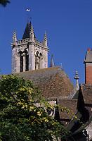 Europe/France/Ile-de-France/77/Seine-et-Marne/Moret-sur-Loing: Clocher de l'église Notre-Dame