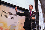 © Joel Goodman - 07973 332324 . NO SYNDICATION PERMITTED . 06/11/2014 . Leeds , UK . The Deputy Prime Minister , NICK CLEGG , addresses the Northern Futures Summit in Leeds this morning (Thursday 6th November 2014) .  . Photo credit : Joel Goodman