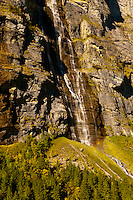 Murrenbachfalls, near Stechelberg, Swiss Alps, Canton Bern, Switzerland
