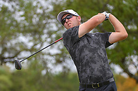 Seamus Power (IRL) watches his tee shot on 2 during day 2 of the Valero Texas Open, at the TPC San Antonio Oaks Course, San Antonio, Texas, USA. 4/5/2019.<br /> Picture: Golffile | Ken Murray<br /> <br /> <br /> All photo usage must carry mandatory copyright credit (&copy; Golffile | Ken Murray)