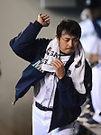 Hisashi Iwakuma (Mariners),.MAY 26, 2013 - MLB :.Hisashi Iwakuma of the Seattle Mariners in the dugout during the baseball game against the Texas Rangers at Safeco Field in Seattle, Washington, United States. (Photo by AFLO)