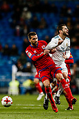 10th January 2018, Santiago Bernabeu, Madrid, Spain; Copa del Rey football, round of 16, 2nd leg, Real Madrid versus Numancia; Jesus Vallejo (Real Madrid) fights for control of the ball