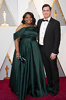 Oscar&reg; nominee Octavia Spencer arrives with Tate Taylor on the red carpet of The 90th Oscars&reg; at the Dolby&reg; Theatre in Hollywood, CA on Sunday, March 4, 2018.<br /> *Editorial Use Only*<br /> CAP/PLF/AMPAS<br /> Supplied by Capital Pictures