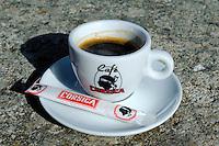 Espresso mit korsischem Mohrenkopf, Korsika, Frankreich