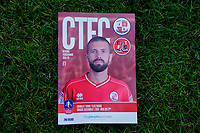 George Francombe on the cover of match day programme during Crawley Town vs Fleetwood Town, Emirates FA Cup Football at Broadfield Stadium on 1st December 2019