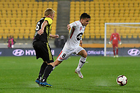 Western Sydney Wanderers FC&rsquo;s Jordan O&rsquo;Doherty in action during the A-League - Wellington Phoenix v Western Sydney Wanderers at Westpac Stadium, Wellington, New Zealand on Saturday 3 November  2018. <br /> Photo by Masanori Udagawa. <br /> www.photowellington.photoshelter.com