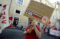 Roma 12 Maggio 2012.Manifestazione nazionale del Partito della Rifondazione Comunista, Federazione della Sinistra, contro il Governo Monti e in difesa dell'Articolo 18