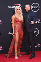LOS ANGELES, CA - JULY 12: Maryse Ouellet and The Miz at The 25th ESPYS at the Microsoft Theatre in Los Angeles, California on July 12, 2017. Credit: Faye Sadou/MediaPunch