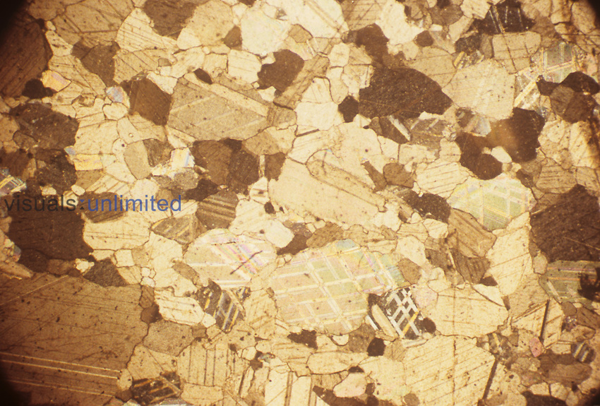 Thin section of Marble. LM.
