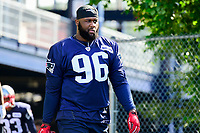 July 28, 2017: New England Patriots defensive lineman Darlus Kilgo (96) walks to the practice fields for the New England Patriots training camp held at Gillette Stadium, in Foxborough, Massachusetts. Eric Canha/CSM