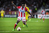 14th September 2017, Red Star Stadium, Belgrade, Serbia; UEFA Europa League Group stage, Red Star Belgrade versus BATE; Forward Richmond Boakye of Red Star Belgrade tries to get the ball out of his feet to shoot
