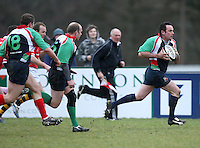 Action during the charity match between the Ulster 1999 XV and a Wooden Spoon Select XV at Shaw's Bridge Belfast.  Mandatory Credit - Photo : John Dickson
