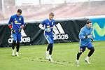 Spain's Sergio Rico, David De Gea and Iker Casillas during preparing training stage to Euro 2016. May 30,2016.(ALTERPHOTOS/Acero)