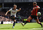 Harry Kane-Tottenham & Steve Cook-Bournemouth during the English Premier League match at the White Hart Lane Stadium, London. Picture date: April 15th, 2017.Pic credit should read: Chris Dean/Sportimage