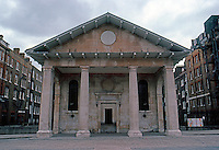London: St. Paul's Church, Covent Garden. Inigo Jones,  1620 ? (First Parish Church in Classical Style in England.)  Photo '79.