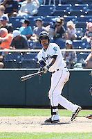 Corey Simpson (36) of the Everett AquaSox bats during a game against the Vancouver Canadians at Everett Memorial Stadium on July 28, 2015 in Everett, Washington. Everett defeated Vancouver, 8-5. (Larry Goren/Four Seam Images)