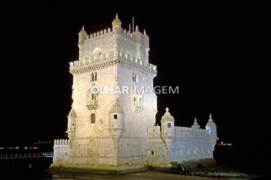 Torre de Belém em Lisboa.Portugal. 1998. Foto de Renata Mello.