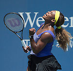 Serena Williams (USA) defeats Samantha Stosur AUS 7-6(7), 7-6(7)