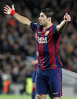 FC Barcelona's Luis Suarez during Champions League 2014/2015 match.December 10,2014. (ALTERPHOTOS/Acero) /NortePhoto