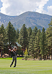 August 5, 2012: John Mallinger swings on the 5th fairway during the final round of the 2012 Reno-Tahoe Open Golf Tournament at Montreux Golf & Country Club in Reno, Nevada.