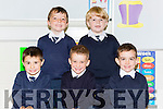 Junior infants Rian Foley, Cathal Flynn, Jack Kennedy, Paddy O'Sullivan and Noah Grffin who started in Fybough NS Keel