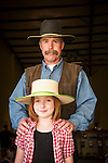 Winnemucca's Tri County Fair, Labor Day weekend..Riley Kull and her father, Humboldt County Undersheriff Curtiss Kull