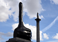 &quot;Really Good&quot; by David Shrigley the 11th artwork on the Fourth Plinth, Trafalgar Square, London on September 30th 2016<br /> CAP/BK/PP<br /> &copy;Bob Kent/PP/Capital Pictures /MediaPunch ***NORTH AND SOUTH AMERICAS ONLY***
