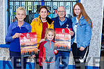 Launch of the Grace Moran Memorial Walk outside Moran Shop in Strand Road on Sunday.<br /> L-r, Eileen and Trisha Moran, Lexi Moran-Keane, Jimmie Moran and Jade Eager-Mora