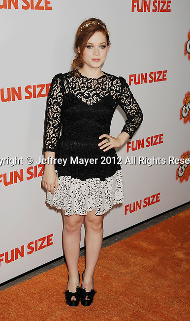 HOLLYWOOD, CA - OCTOBER 25: Jane Levy arrives at the Los Angeles premiere of 'Fun Size' at Paramount Studios on October 25, 2012 in Hollywood, California.