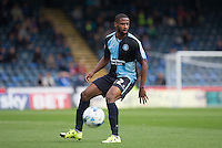Janoi Donacien of Wycombe Wanderers looks for options during the Sky Bet League 2 match between Wycombe Wanderers and Hartlepool United at Adams Park, High Wycombe, England on 5 September 2015. Photo by Andy Rowland.