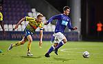 2018-08-10 / Voetbal / Seizoen 2018-2019 / KFCO Beerschot-Wilrijk - KVC Westerlo / Guillaume De Schryver met Dante Vanzeir (r. B-W)<br /> <br /> ,Foto: Mpics
